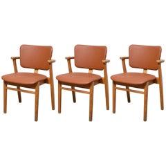 Set of Three Domus Armchairs by Ilmari Tapiovaara, Finland