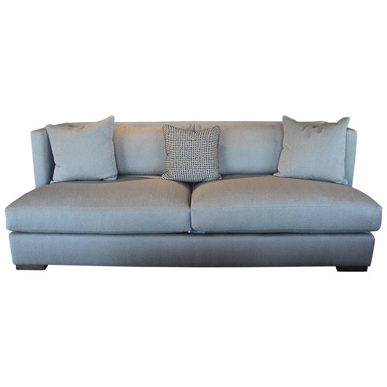 Modern High Back Grey Sofa At 1stdibs