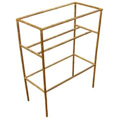Faux Bamboo Gilt Metal Towel Rack