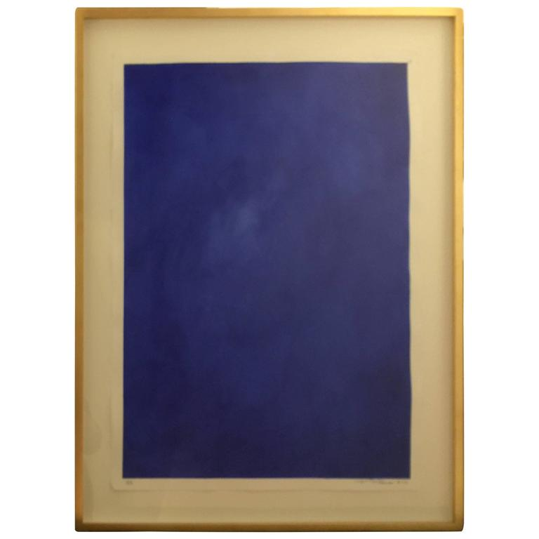 "Original Framed Abstract ""Yves Klein Bleu"" Series by Francisco Franco 1"
