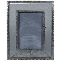 American Edwardian Sterling Silver and Glass Picture Frame