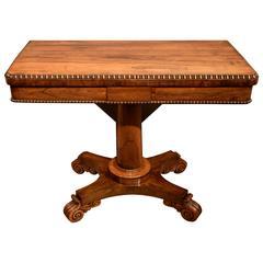 Elegant William iv Rosewood Card Table