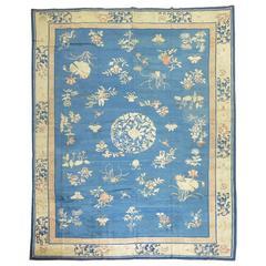 Antique Chinese Peking Room Size Carpet