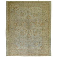 Antique Turkish Oushak Room Size Carpet