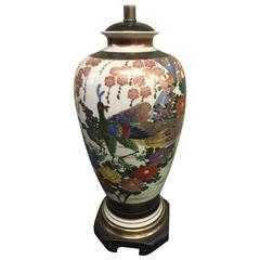Gorgeous Frederick Cooper Hand-Painted Satsuma Table Lamp