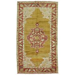 Antique Turkish Melas Scatter Throw Size Rug