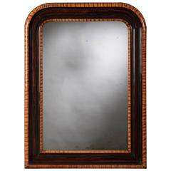 Antique French Louis Philippe Rosewood Mirror, circa 1880