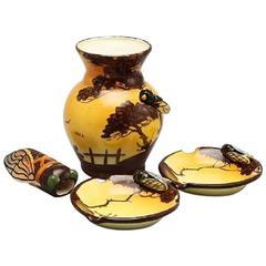 Massier Vallauris, Nice, Art Nouveau Ceramics, France, Early 20th Century