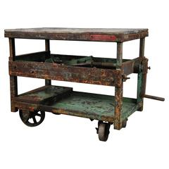 1920 Adjustable Industrial Crank Carts