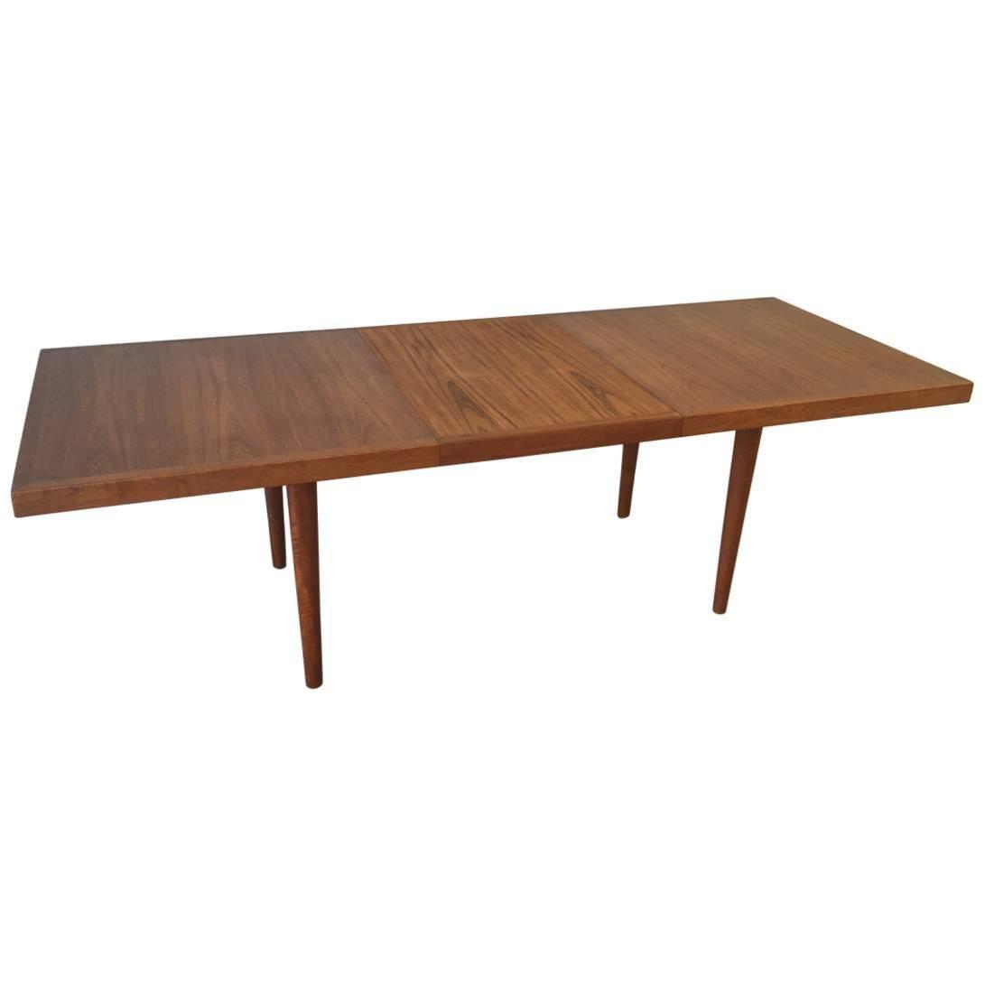 Rare Teak Dining Table by Nanna Ditzel for Soren Willadsen