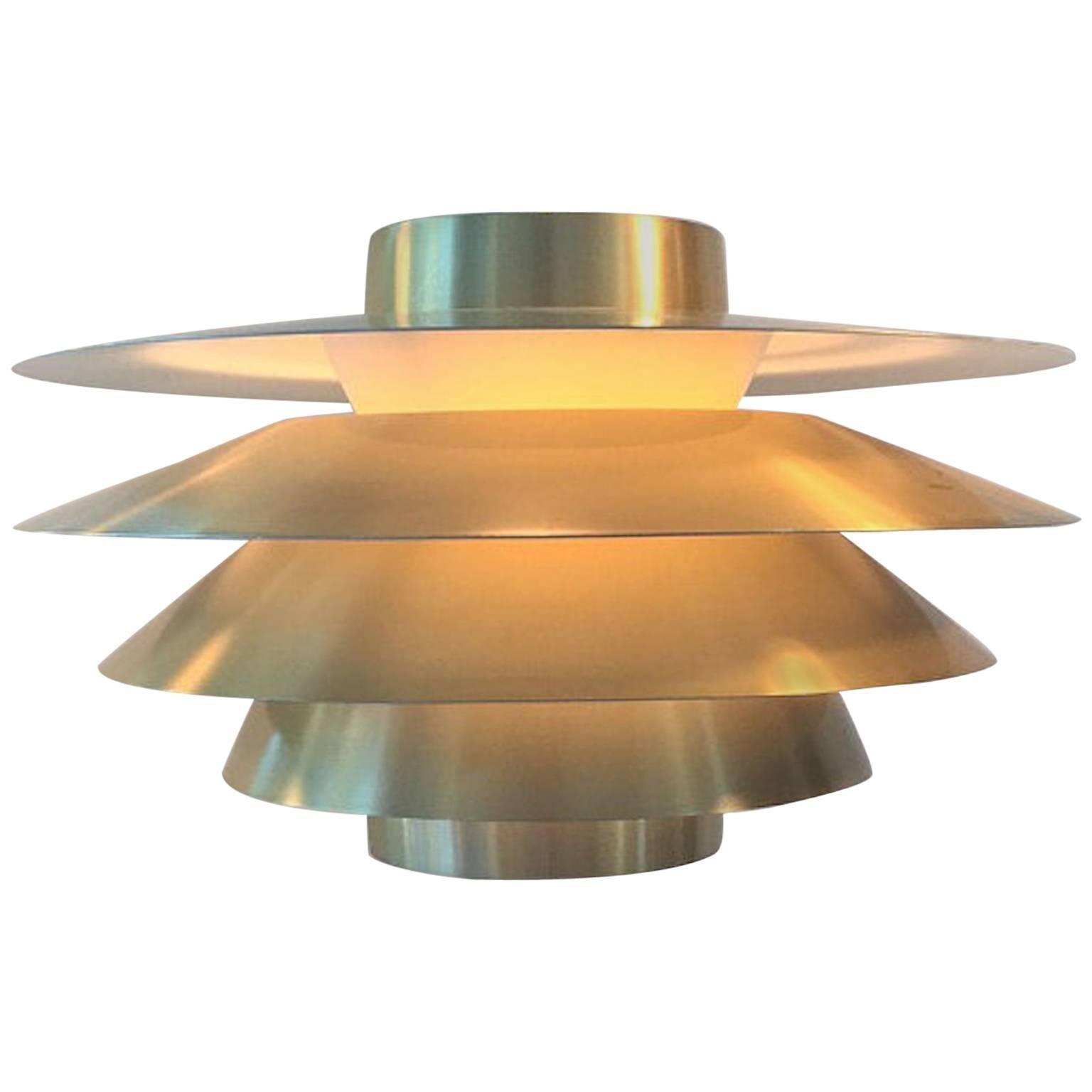 "Classic Danish Brass Pendant ""Verona"" by Svend Middelboe for Nordisk Solar"