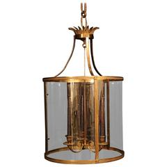 French Gilded Antique Convex Lantern