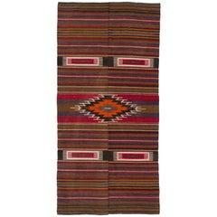 Nomadic Turkish Flat-Weave Kilim Rug
