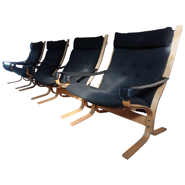 Sought After Vintage Original Scandinavian Ingmar Relling Bentwood Siesta Chairs