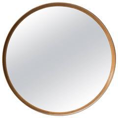 Uno & Östen Kristiansson Large Round Mirror by Luxus in Sweden