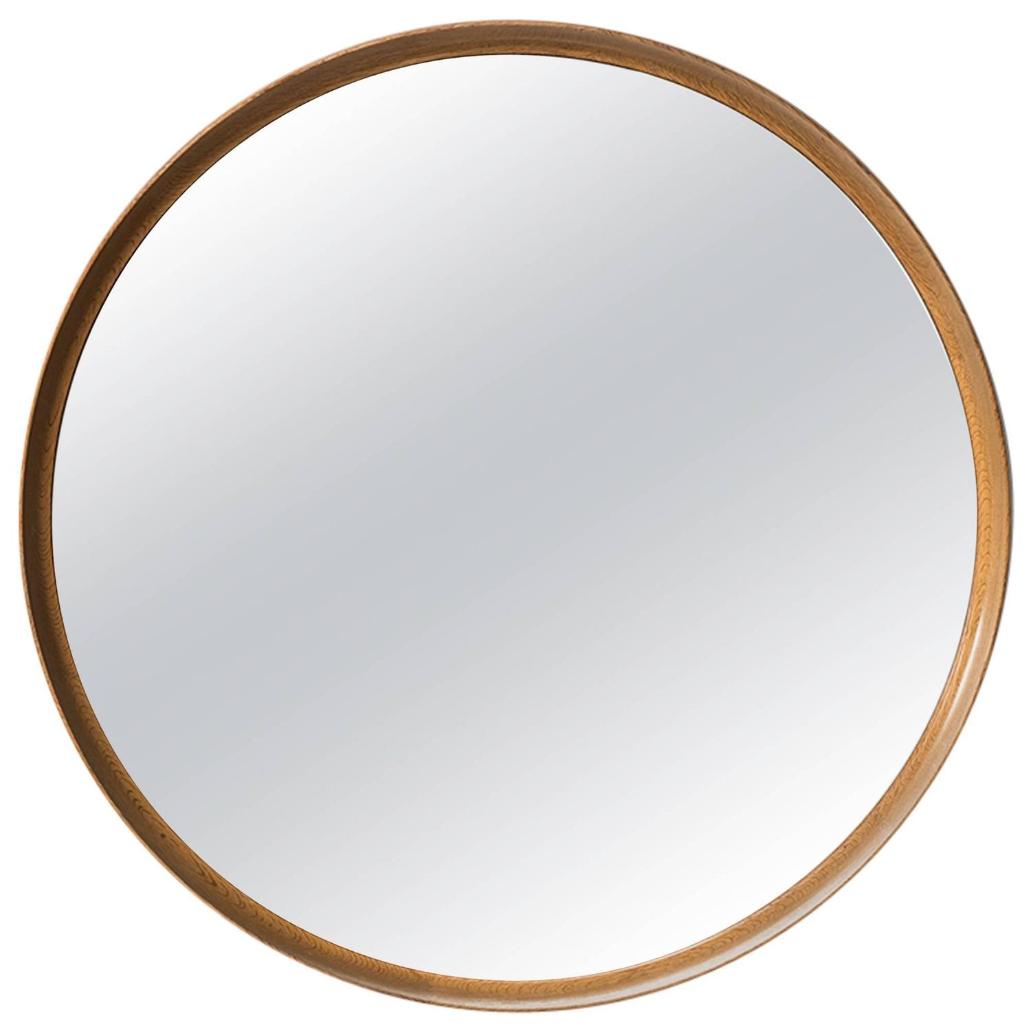 Uno and sten kristiansson large round mirror by luxus in for Large round mirrors for sale