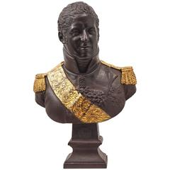 Rare Cast Iron Bust of Charles X, France, 19th Century
