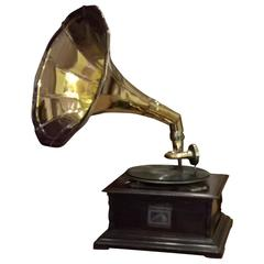 """His Master's Voice"" Wind Up Gramophone"