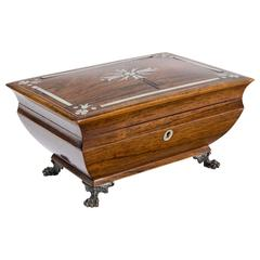 1820s Antique French Charles X Rosewood Box