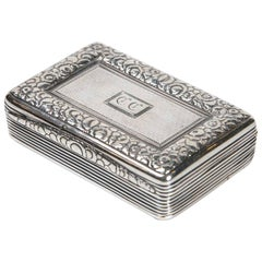 Sterling Silver Snuff Box by Thomas Ellis, circa 1824, English