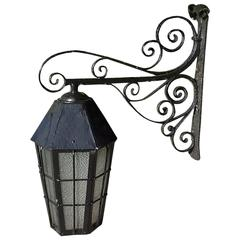 Late 19th-Early 20th Century Cast Iron Exterior Lantern