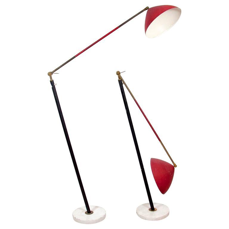 Pair of Stilux Articulating Floor Lamps