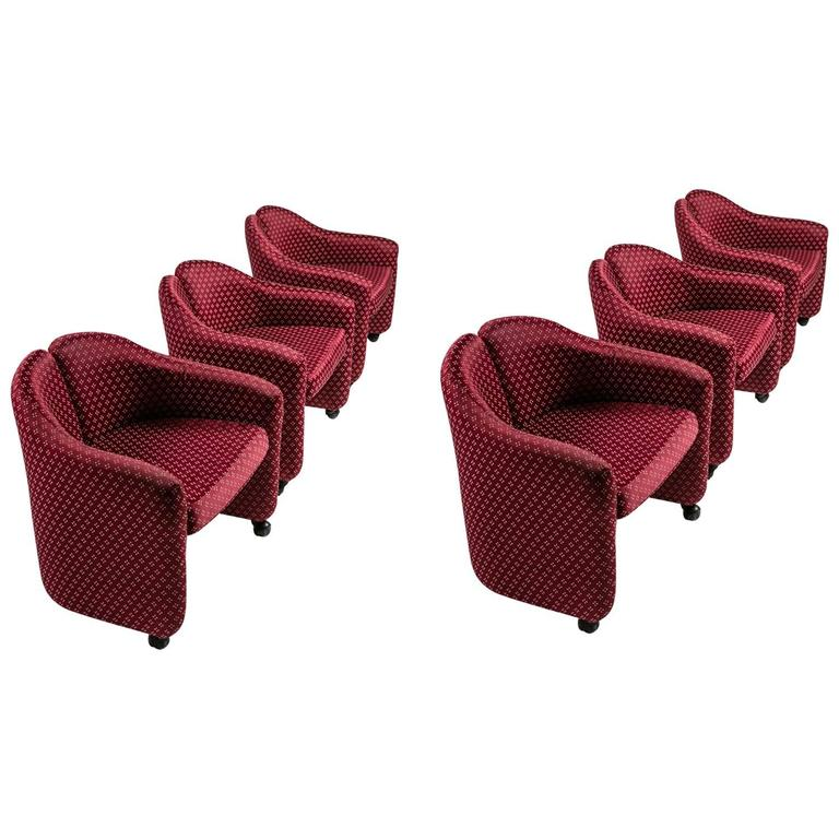 "Set of Six Chairs Model ""Ps142"" by Eugenio Gerli for Tecno"