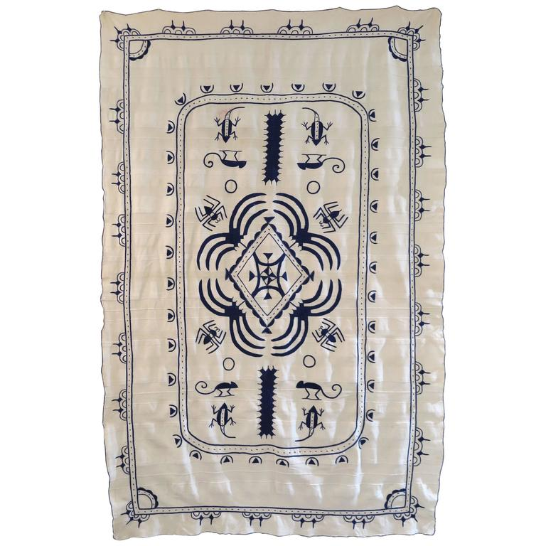 Hand Embroidered African Textile, Cameroon