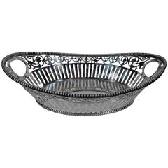 Antique Sterling Silver Bread Basket by Howard of New York