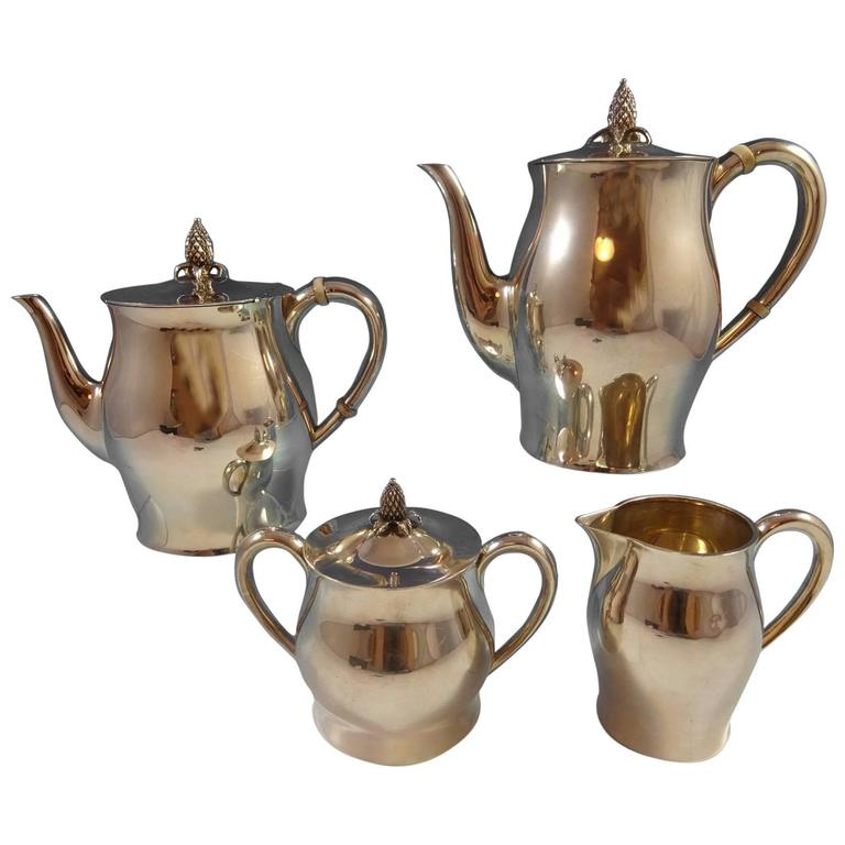 Paul Revere by Tuttle Sterling Silver Tea Set of Four Pieces Hollowware