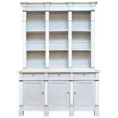 French Directoire Style Buffet Deux Corps/ Bibliotheque