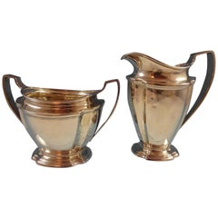 Windham by Tiffany & Co Sterling Silver Sugar and Creamer Set Hollowware