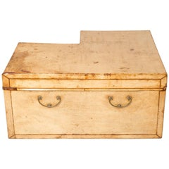 Leather Corner Coffee Table or Trunk