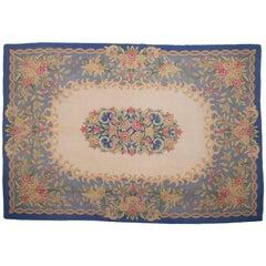 Vintage Aubusson  style Hooked Carpet
