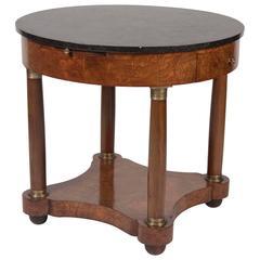 Burled Walnut Bouillotte Table