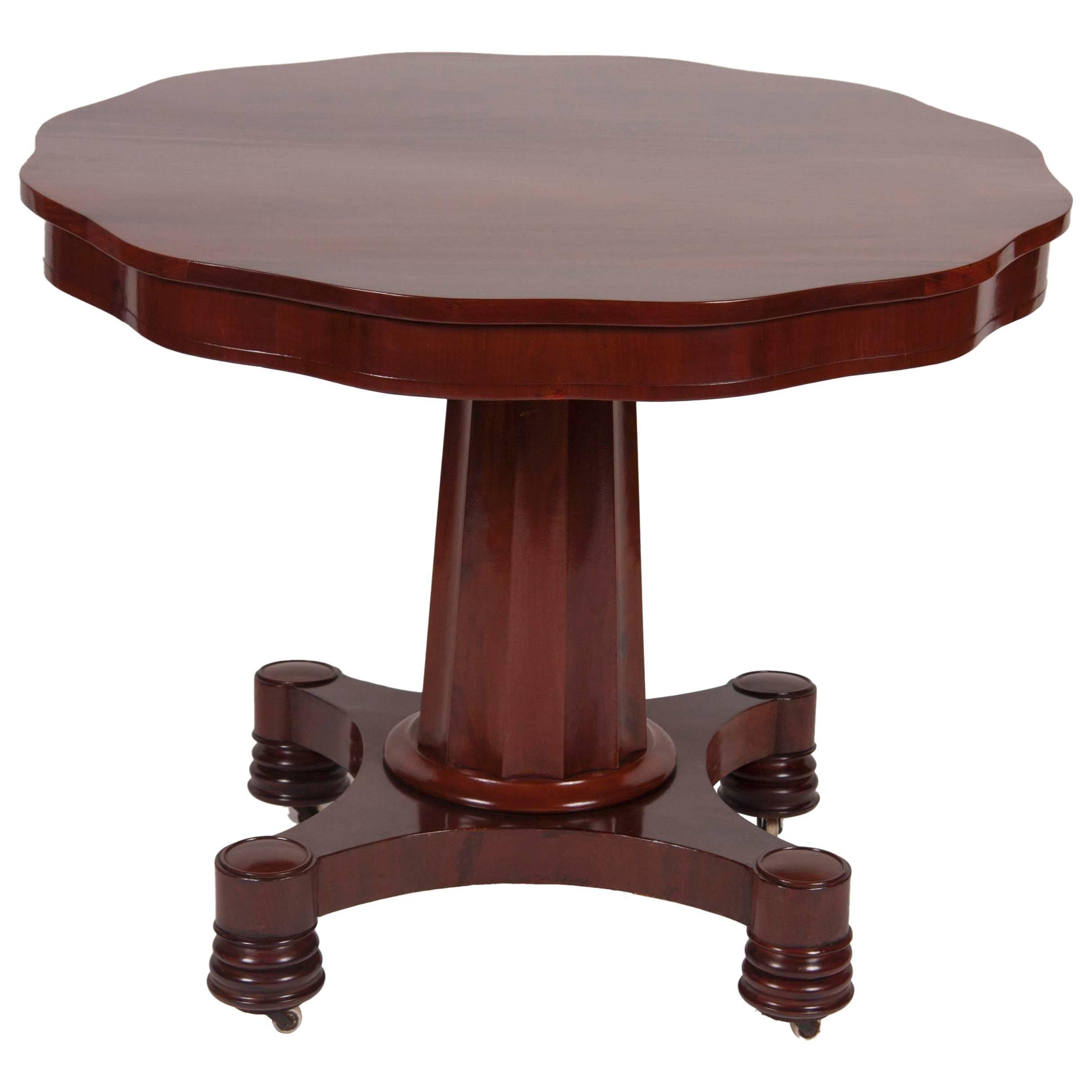 American Mahogany Empire Center Table