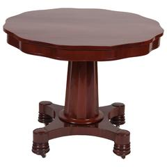 American Mahogany Empire Center Table