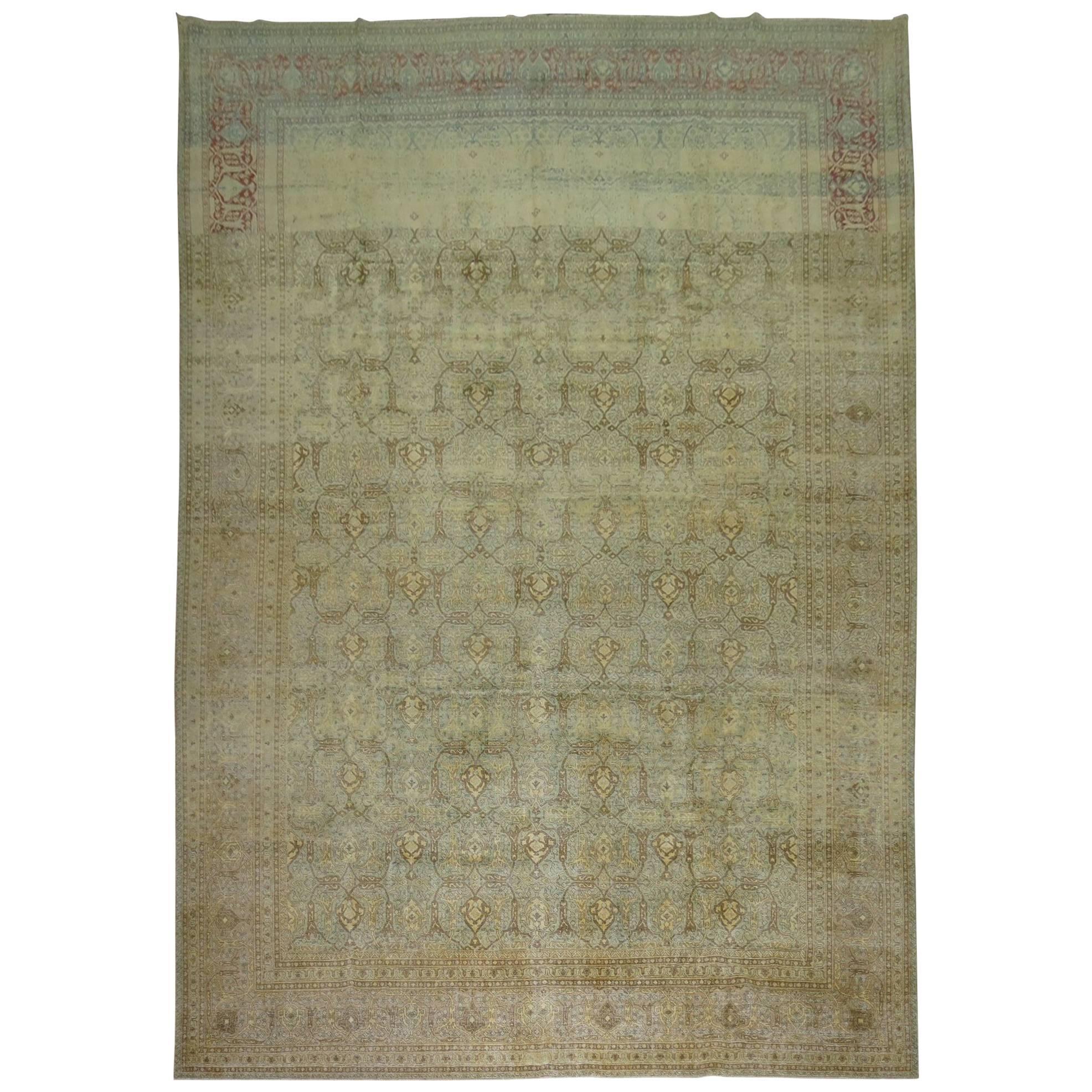 Antique Persian Isfahan Carpet