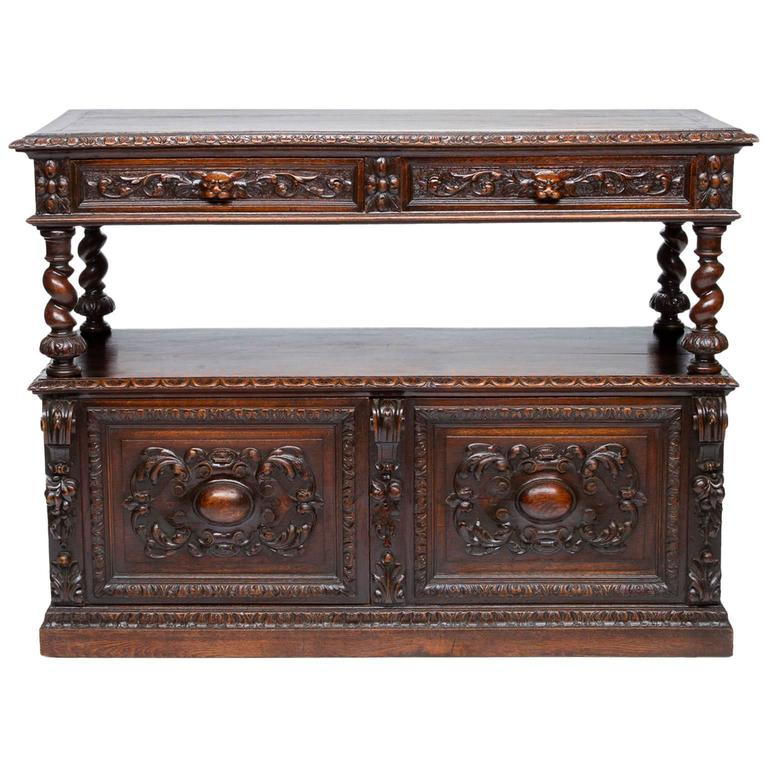 19th Century French Renaissance Carved Server
