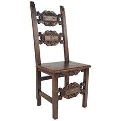 17th Century Chair Italian Wood Chair