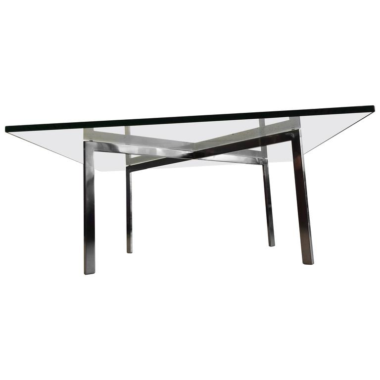 early ludwig mies van der rohe barcelona table by knoll at. Black Bedroom Furniture Sets. Home Design Ideas