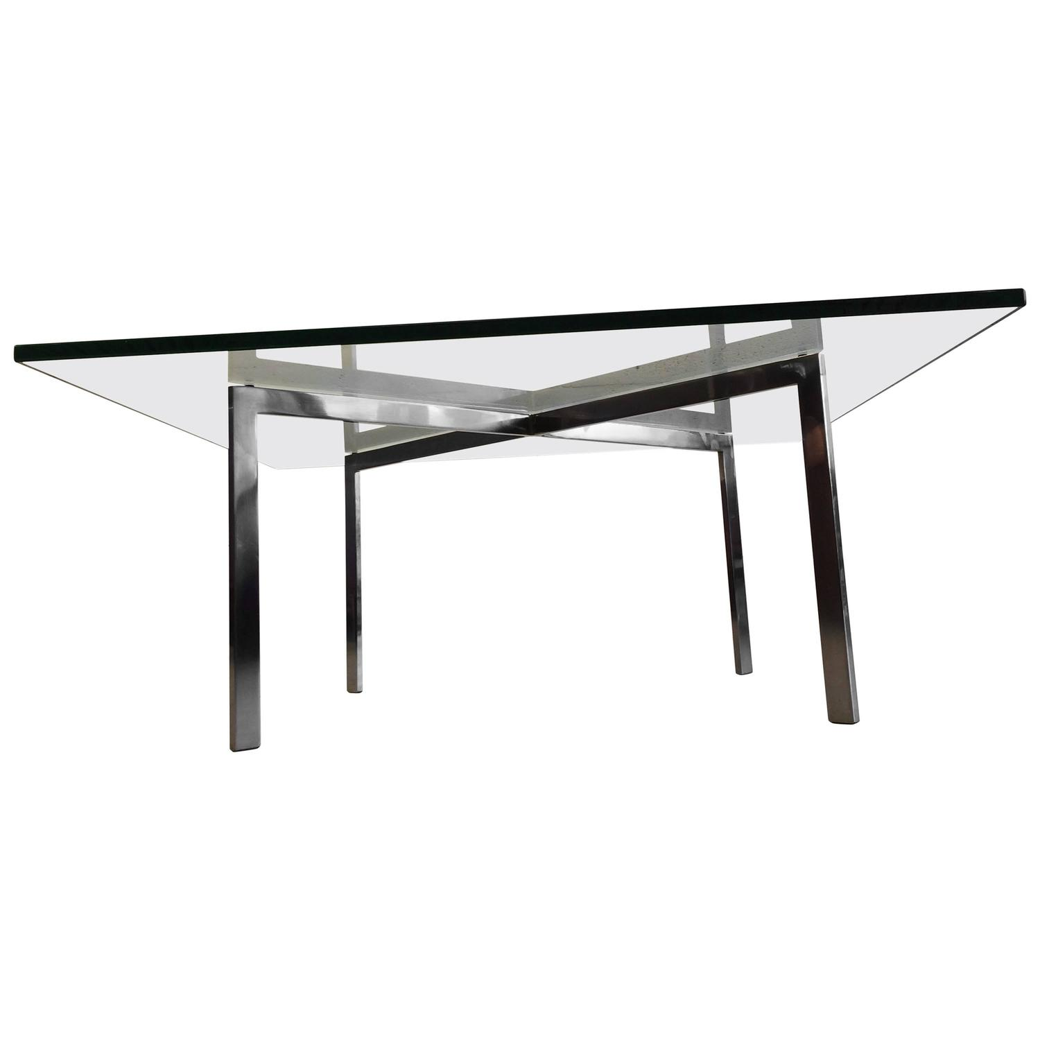 Early Ludwig Mies Van Der Rohe Barcelona Table By Knoll For Sale At 1stdibs