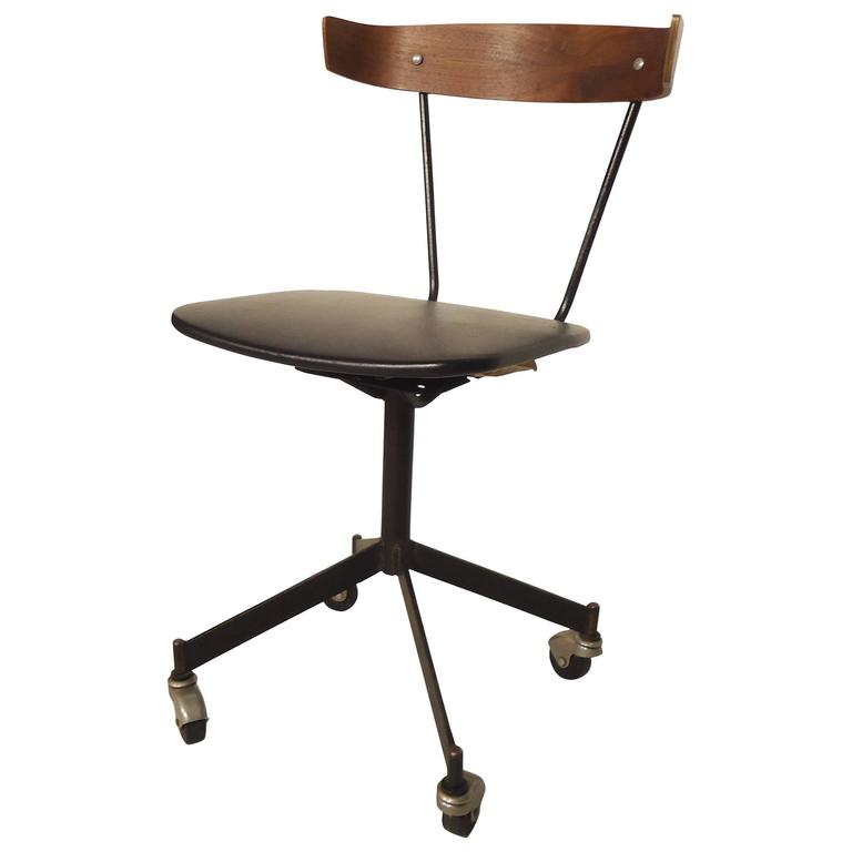 Rolling Desk Chair Attributed to Paul McCobb at 1stdibs