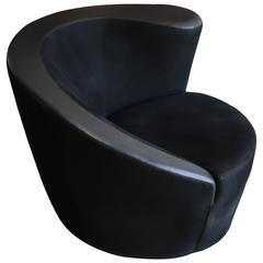 """Nautilus"" Swivel Chair by Vladimir Kagan for Directional"