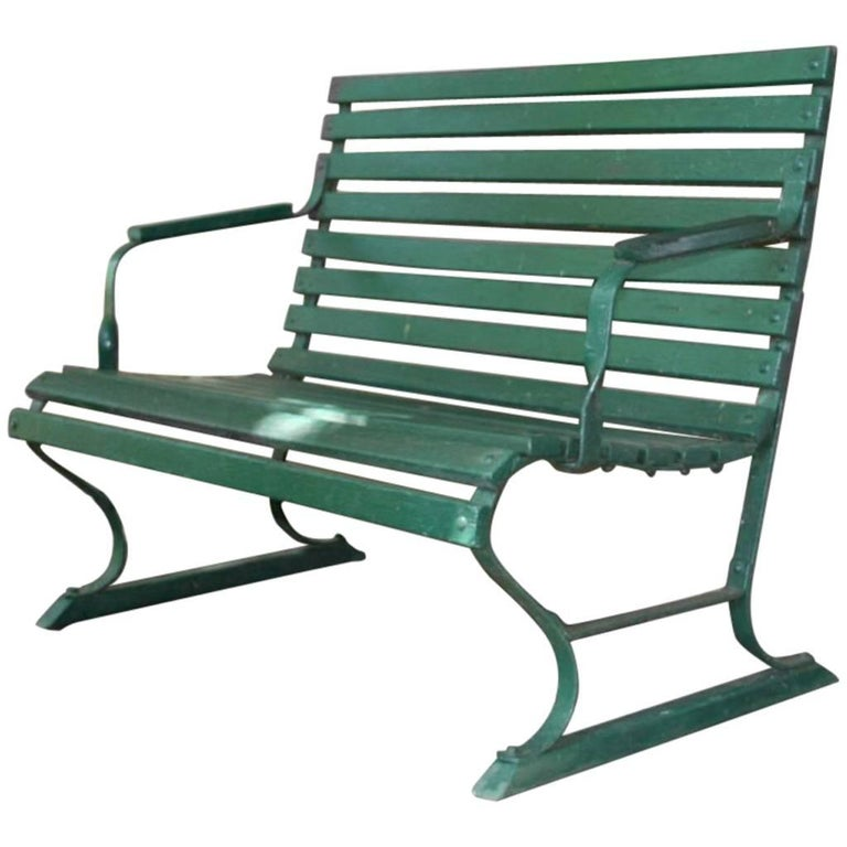 Small Green Garden Bench For Sale