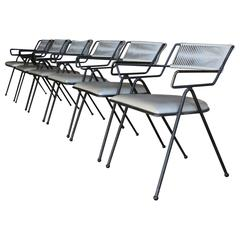 """Set of Six Iron """"Captain's Chairs"""" by Delta Furniture Company"""