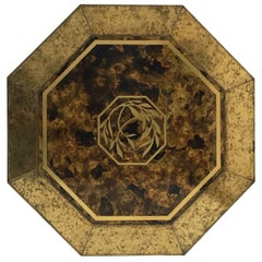 Stunning 1970s 'Mastercraft', Acid Etched Brass Table by Sculptor Bernhard Rohne