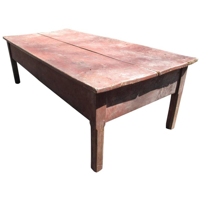 American Farm Coffee Table At 1stdibs