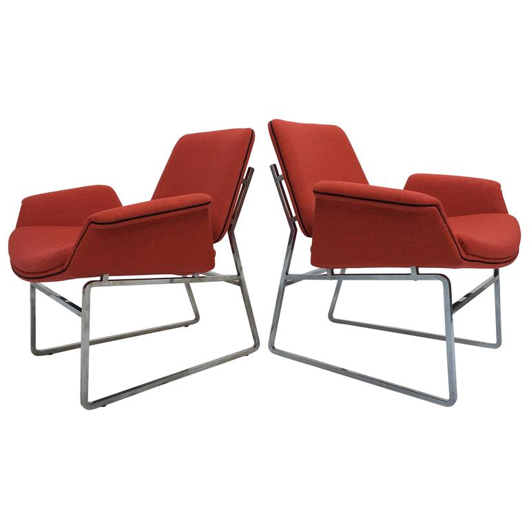 Restored 'Double Shell' Lounge Chairs by Illum Wikkelsø for Arflex, Italy, 1960 For Sale