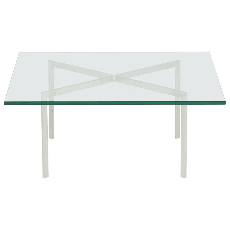 Barcelona coffee table by ludwig mies van der rohe for knoll international at - Barcelona table knoll ...